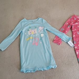 Carter's Toddler Girl 4T-5T Nightgown Set NWT